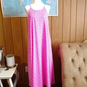 Everly Pink White Long Maxi Dress M
